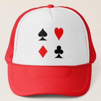 Chapéu do clube da pá do diamante do coração dos boné