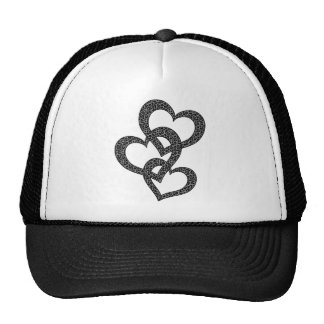 Chapéu do coração do leopardo bone