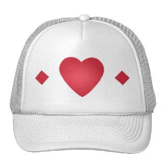 chapéu do coração e dos diamantes boné