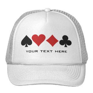 Chapéu do costume do jogador de cartão boné