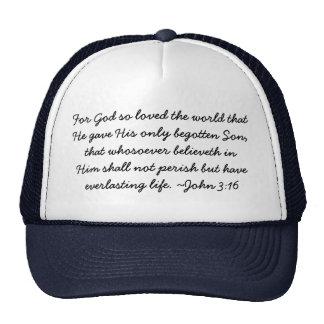 Chapéu do desgaste da escritura - 3:16 de John Bonés