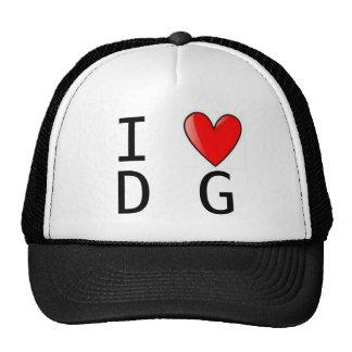 Chapéu do DG do coração do CG Boné