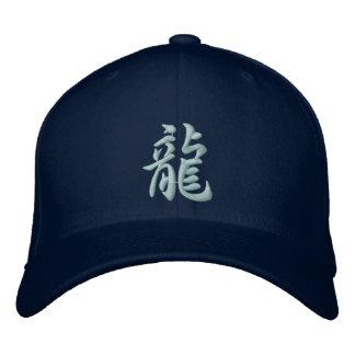 Chapéu do dragão do Kanji Boné Bordado