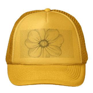 Chapéu do esboço da flor boné