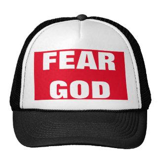 Chapéu do evangelismo do deus do medo boné