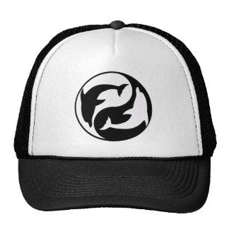 Chapéu do golfinho de Yin Yang Boné