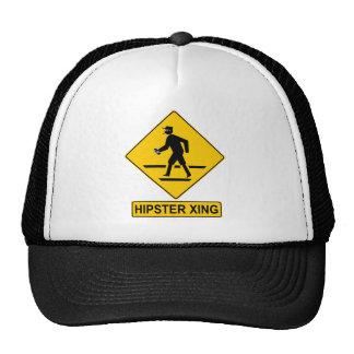 Chapéu do hipster do cruzamento do hipster boné
