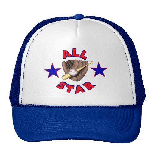 Chapéu do jogador de beisebol de All Star Bone