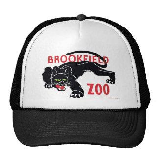Chapéu do leopardo do preto do jardim zoológico de boné