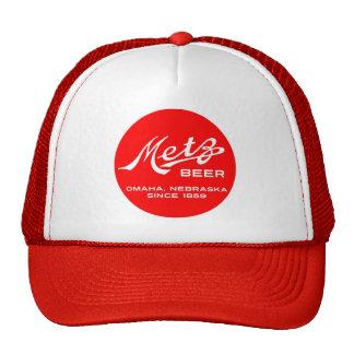 Chapéu do logotipo da cerveja de Metz do vintage Boné