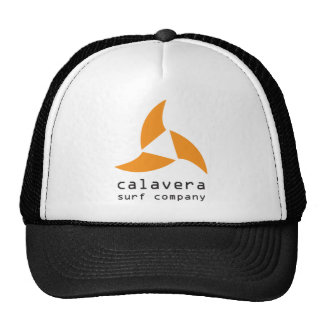Chapéu do logotipo de Calavera Surfar Empresa Bones