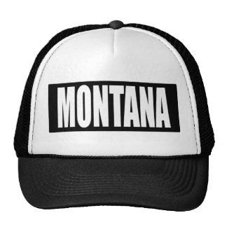 Chapéu do logotipo de Montana Boné