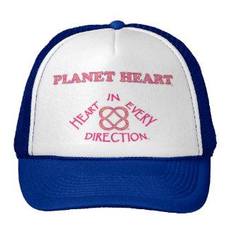 Chapéu do logotipo do coração do planeta boné