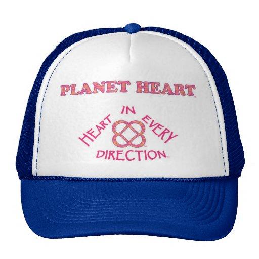 Chapéu do logotipo do coração do planeta bones