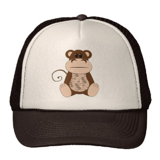 Chapéu do macaco de Swirly Boné
