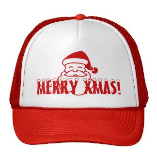 Chapéu do Natal com o Papai Noel que diz o Xmas da Boné