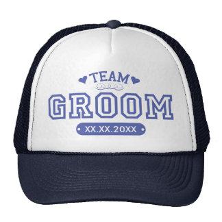Chapéu do noivo da equipe boné