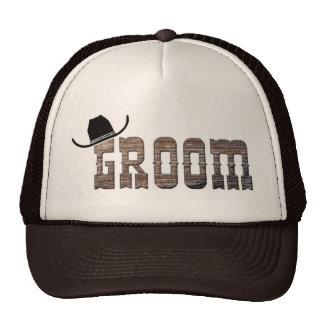 Chapéu do noivo do vaqueiro boné