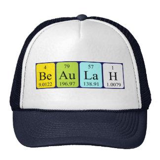 Chapéu do nome da mesa periódica de Beaulah Bone