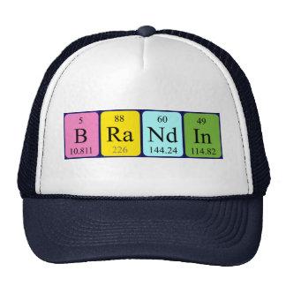 Chapéu do nome da mesa periódica de Brandin Boné
