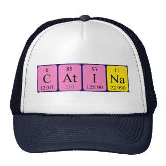 Chapéu do nome da mesa periódica de Catina Bones