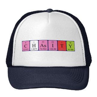 Chapéu do nome da mesa periódica de Chasity Bonés