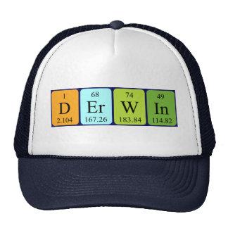 Chapéu do nome da mesa periódica de Derwin Bonés