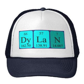 Chapéu do nome da mesa periódica de Dylan Boné