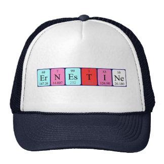Chapéu do nome da mesa periódica de Ernestine Bones