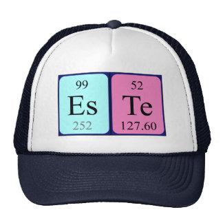 Chapéu do nome da mesa periódica de Este Boné