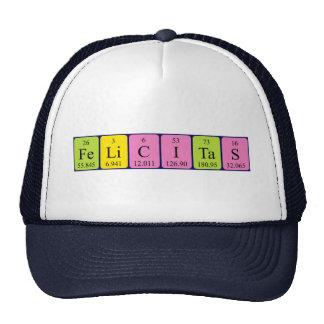 Chapéu do nome da mesa periódica de Felicitas Boné