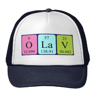 Chapéu do nome da mesa periódica de Olav Bones