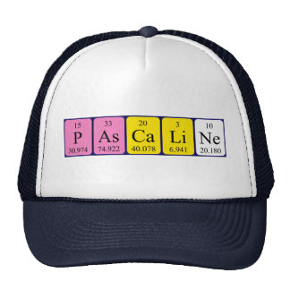 Chapéu do nome da mesa periódica de Pascaline Bone