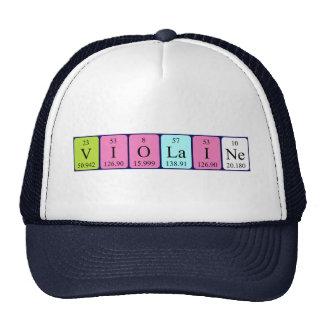 Chapéu do nome da mesa periódica de Violaine Boné