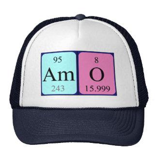 Chapéu do nome da mesa periódica do Amo Bonés