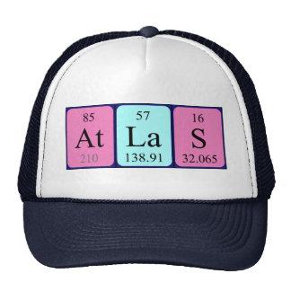 Chapéu do nome da mesa periódica do atlas boné