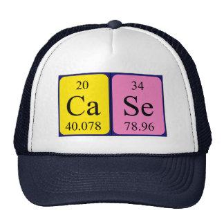 Chapéu do nome da mesa periódica do caso boné