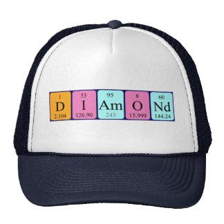 Chapéu do nome da mesa periódica do diamante boné