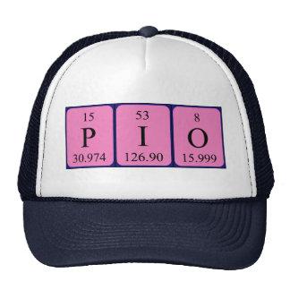Chapéu do nome da mesa periódica do Pio Bones