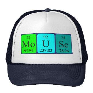 Chapéu do nome da mesa periódica do rato boné
