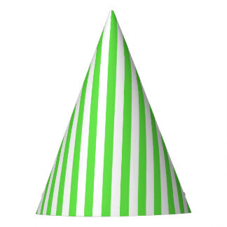 Chapéu do partido da listra do verde limão