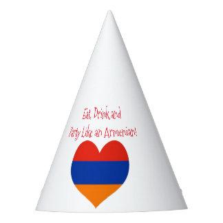 Chapéu do partido do arménio |