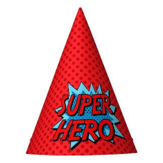 Chapéu do partido do super-herói - ponto vermelho