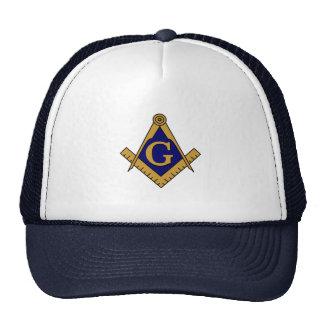 Chapéu do quadrado & do camionista dos compassos bones