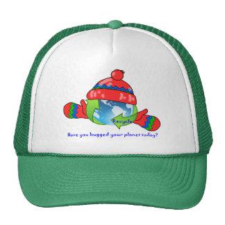 Chapéu do reciclar do abraço do planeta boné