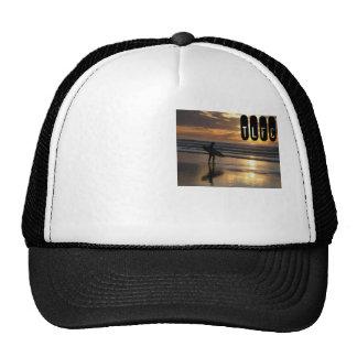 Chapéu do surf do por do sol boné
