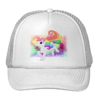 Chapéu do unicórnio do arco-íris boné