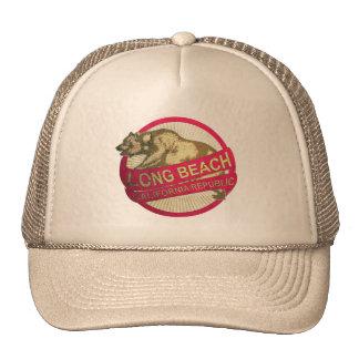 Chapéu do urso do vintage de Long Beach Califórnia Boné