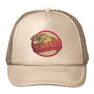 Chapéu do urso do vintage de Modesto Califórnia Boné