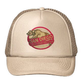 Chapéu do urso do vintage de San Diego Califórnia Boné